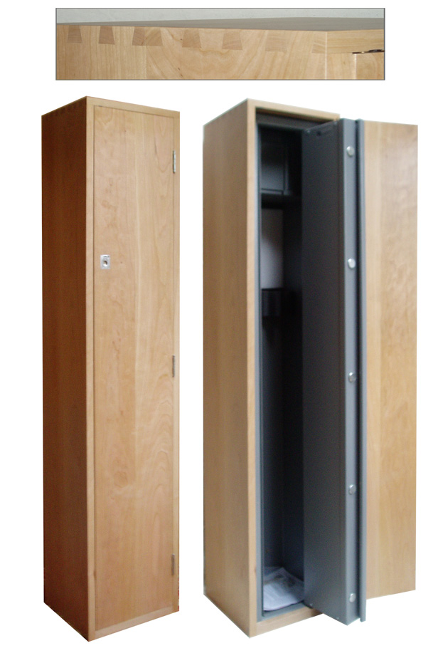 Gun cabinet philip j beards for Bedroom furniture gun safe