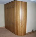 Curved Oak Wardrobe