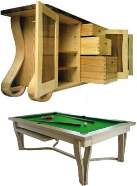 custom pool tables and bespoke furniture