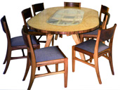 Fine Walnut Table And Chairs