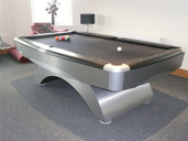 Contemporary Silver Pool Table